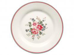 Plate Elouise white