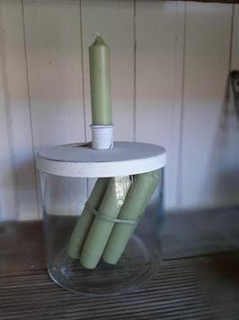 Kerzenhalter mit Dekoglas groß