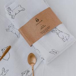 Leinen Geschirrtücher Kaninchen Eulenschnitt