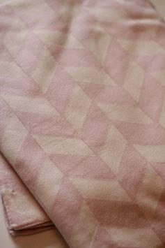 Kuscheldecke Raute rosa/creme