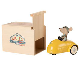 Mouse Car with Garage gelb