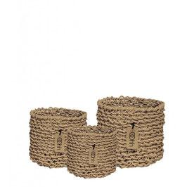 Wooven Paper Baskets Set of 3 und einzeln