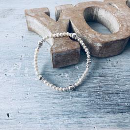 Süsswasserperle mit Silberelementen *perla*