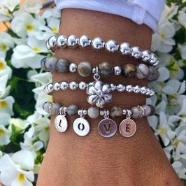 Armbänder aus Silverleafjaspsis *föglia*