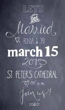 """Hochzeitseinladung """"Lets get Married"""""""