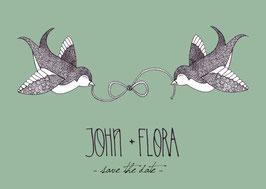 """Save the Date """"John & Flora"""""""