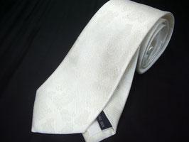 慶事用 白 家紋入りネクタイ ペイズリー柄