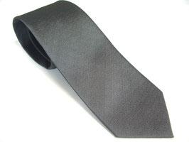 法事用 濃グレー 家紋入りネクタイ