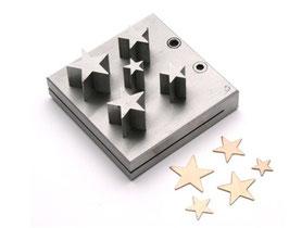 Aushauersatz Sterne, 5 tlg