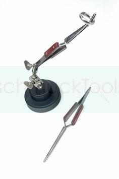 Pinzettenhalter mit 2 Lötkreuz-Pinzetten