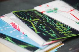 Gräserkarten mit Umschlag
