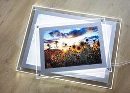 Acryl-Rahmen mit LED Hinterleuchtung - mit Kundenbild