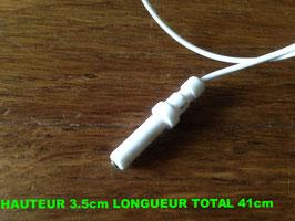 BOUGIE D'ALLUMAGE PLAQUE GAZ  : HAUTEUR 3.5cm LONGUEUR TOTAL 41cm