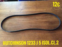 COURROIE LAVE-LINGE : HUTCHINSON 1233 J 5 ISOL.CL.2