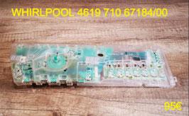 CARTE DE COMMANDE LAVE-LINGE : WHIRLPOOL 461971067184