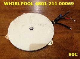 FOYER INDUCTION : WHIRLPOOL 480121100069