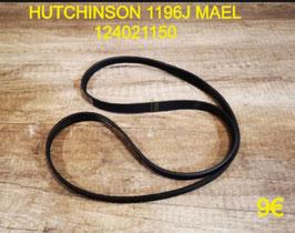 COURROIE LAVE-LINGE : HUTCHINSON 1196J MAEL 124021150