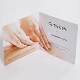 Gutschein für 2 Massagen (1 Gutscheinkarte)