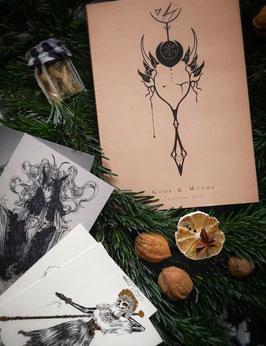 Gods & Myths Ink Artbook 2019 + ink illustration