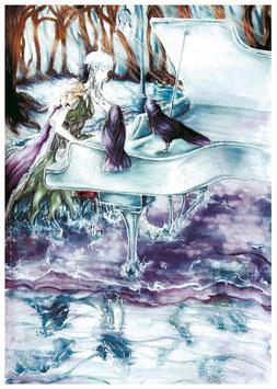 Winterpiano & Dead Violin Original Paintings