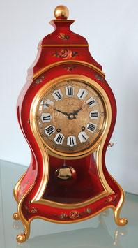 Pendule Zenith in rot, mit von Hand bemaltem Rosenmuster, Art. Nr. 17-231