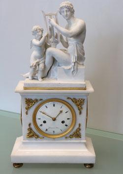 """Pariser Pendule signiert """"Courvoisier à Paris"""" Louis XV -  antik, ca. 1800"""