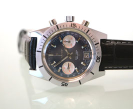 Cauny Chronograph, Stahl, Handaufzug, Swiss Made