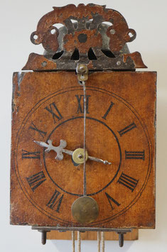 Kleine Einzeiger-Eisenuhr, antik, 17 Jahrh.