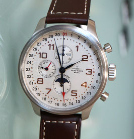 Zeno Watch OS Retro Chronograph mit Vollkalender – 2 Jahre Garantie