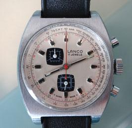 LANCO Handaufzug Chronograph, Stahl, 1970er Jahre