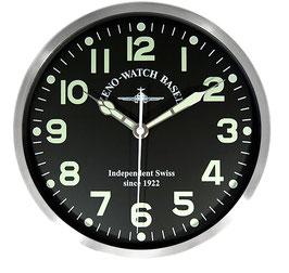 Zeno-Watch Basel Pilot clock XL FLieger Wanduhr, SILENT QUARTZ - 39,5 cm Durchmesser