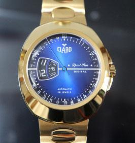 """CLARO Automatik """"Sport Star Digital"""" Golden mit digitaler Stundenanzeige - 2 Jahre Garantie"""
