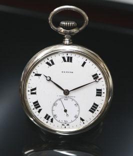 Zenith Taschenuhr ca. 1930, Silber - kleine Sekunde