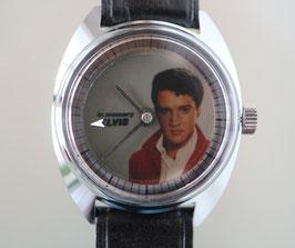 """Zurex Handaufzug Stahl, Swiss Made, mit Pola Spot Filter Sujet """"In memory Elvis"""", 1978"""