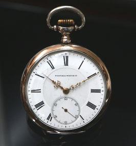 Postala Watch Taschenuhr ca. 1920, Silber - kleine Sekunde