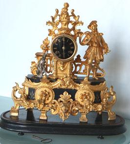 "Franz. Kamin-Uhr mit Zifferblatt ""F. Egg Winterthur"" -  antik, 19 Jahrh."