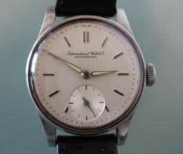 International Watch Co. Schaffhausen, Vintage-Armbanduhr, Handaufzug in Stahl und kleiner Sekunde
