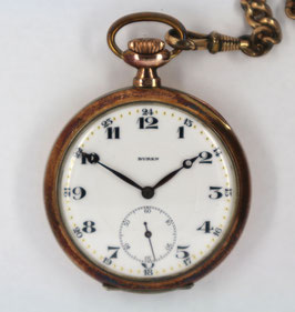 Taschenuhr Nr. 007 - silber 0.800, Büren mit Monogramm