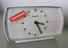 """Wecker """"SwanoMat"""" mit Batterie,  quartz,  1970er Jahre"""