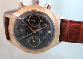 Poljot Chronograph mit neuem Glassichtboden, Handaufzug