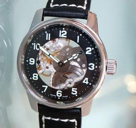 Zeno Watch Design Handaufzug- mit skelettiertem Zifferblatt - 2 Jahre Garantie