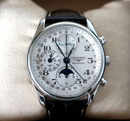 Longines Chronograph Master Collection Stahl - mit Original Box, Papieren