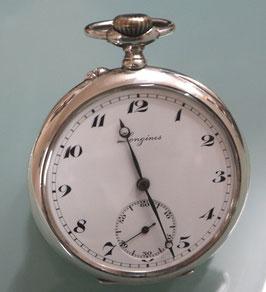 Longines Taschenuhr ca. 1930, Silber - kleine Sekunde - komplett revidiert mit 1 Jahr Garantie