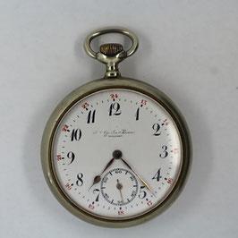 Taschenuhr Nr. 036 - Affolter Willisau - Neusilber - Sujet Bauer beim Mähen