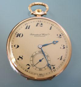 IWC Taschenuhr - Frack-Uhr 0,585 Gold, 1925