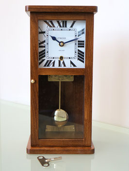 Miniatur-Regulator Massivholz Buche dunkel, Made in Switzerland, neu 2018, 2 Jahre Garantie