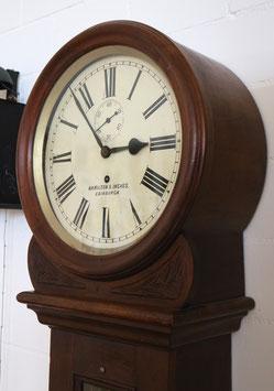 "Tavern Clock ""Hamilton & Inches, Edinburgh"", antik, ca. 1870 - sehr selten!"