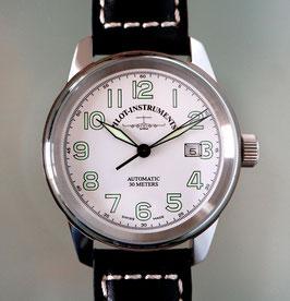 Zeno Watch Classic Pilot Automatik - mit weissem Zifferblatt - 2 Jahre Garantie