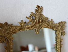 Antiker Spiegel mit Messingrahmen, massiv