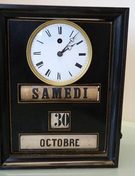Wirtshausuhr antik mit Datumsanzeige, um 1900